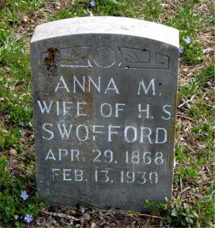 SWOFFORD, ANNA  M. - Boone County, Arkansas | ANNA  M. SWOFFORD - Arkansas Gravestone Photos
