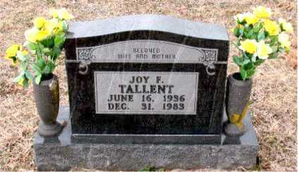 TALLENT, JOY  FRANCES - Boone County, Arkansas | JOY  FRANCES TALLENT - Arkansas Gravestone Photos