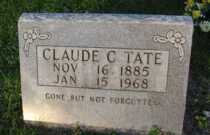 TATE, CLAUDE C. - Boone County, Arkansas | CLAUDE C. TATE - Arkansas Gravestone Photos