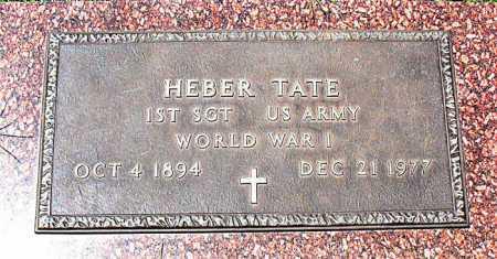 TATE  (VETERAN WWI), HEBER - Boone County, Arkansas | HEBER TATE  (VETERAN WWI) - Arkansas Gravestone Photos