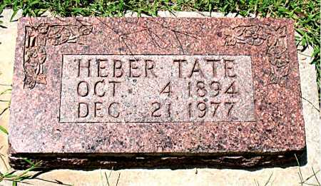 TATE, HEBER - Boone County, Arkansas | HEBER TATE - Arkansas Gravestone Photos