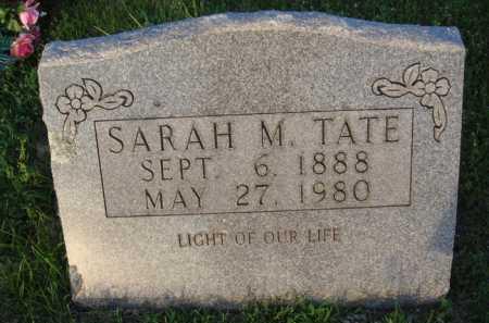 TATE, SARAH M. - Boone County, Arkansas   SARAH M. TATE - Arkansas Gravestone Photos
