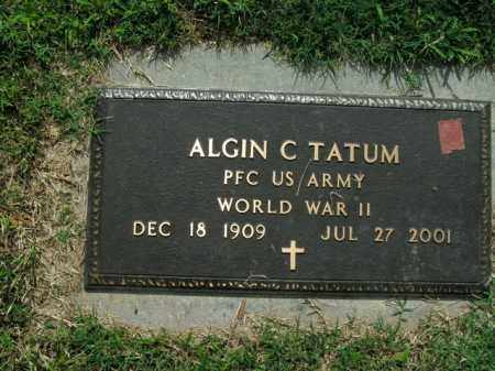 TATUM  (VETERAN WWII), ALGIN C. - Boone County, Arkansas | ALGIN C. TATUM  (VETERAN WWII) - Arkansas Gravestone Photos
