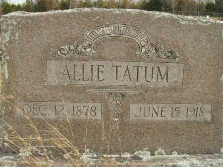 TATUM, ALLIE - Boone County, Arkansas | ALLIE TATUM - Arkansas Gravestone Photos