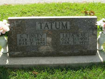 TATUM, C. FINLEY - Boone County, Arkansas | C. FINLEY TATUM - Arkansas Gravestone Photos