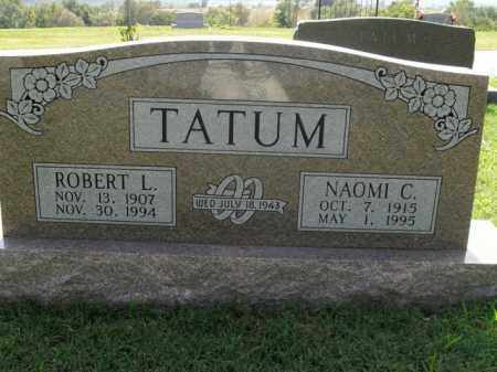 TATUM, ROBERT L. - Boone County, Arkansas | ROBERT L. TATUM - Arkansas Gravestone Photos