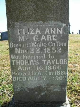 MCGARE TAYLOR, ELIZA ANN - Boone County, Arkansas | ELIZA ANN MCGARE TAYLOR - Arkansas Gravestone Photos