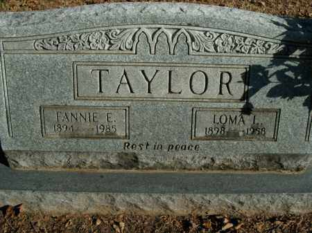 TAYLOR, FANNIE E. - Boone County, Arkansas | FANNIE E. TAYLOR - Arkansas Gravestone Photos
