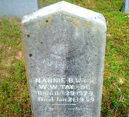 TAYLOR, NANNIE  B. - Boone County, Arkansas | NANNIE  B. TAYLOR - Arkansas Gravestone Photos