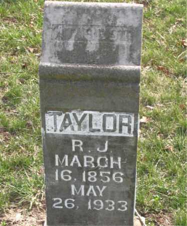 TAYLOR, R. J. - Boone County, Arkansas | R. J. TAYLOR - Arkansas Gravestone Photos