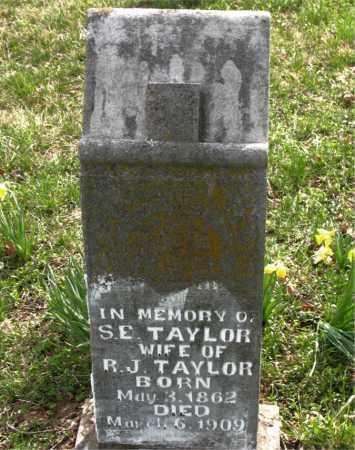 TAYLOR, S.  E. - Boone County, Arkansas | S.  E. TAYLOR - Arkansas Gravestone Photos