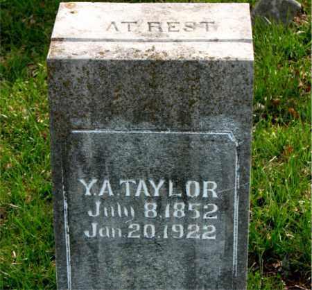 TAYLOR, Y.A. - Boone County, Arkansas | Y.A. TAYLOR - Arkansas Gravestone Photos
