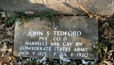 TEDFORD  (VETERAN CSA), JOHN S - Boone County, Arkansas | JOHN S TEDFORD  (VETERAN CSA) - Arkansas Gravestone Photos