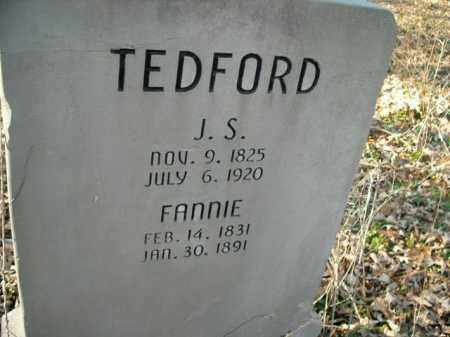 TEDFORD, FANNIE - Boone County, Arkansas | FANNIE TEDFORD - Arkansas Gravestone Photos