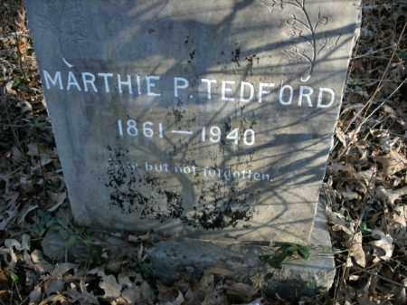 TEDFORD, MARTHIE P. - Boone County, Arkansas | MARTHIE P. TEDFORD - Arkansas Gravestone Photos