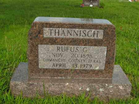 THANNISCH, RUFUS G. - Boone County, Arkansas | RUFUS G. THANNISCH - Arkansas Gravestone Photos