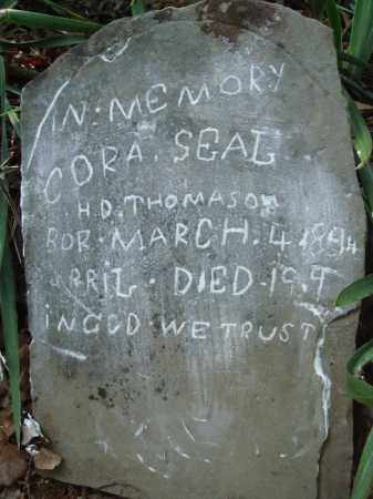 SEAL THOMASON, CORA - Boone County, Arkansas | CORA SEAL THOMASON - Arkansas Gravestone Photos