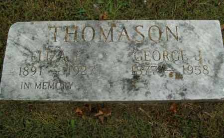 THOMASON, GEORGE J. (SECOND MARKER) - Boone County, Arkansas | GEORGE J. (SECOND MARKER) THOMASON - Arkansas Gravestone Photos