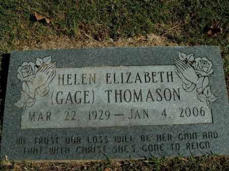 GAGE THOMASON, HELEN ELIZABETH - Boone County, Arkansas | HELEN ELIZABETH GAGE THOMASON - Arkansas Gravestone Photos