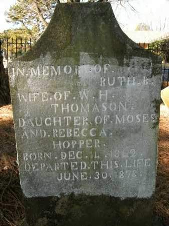 HOPPER THOMASON, RUTH B. - Boone County, Arkansas | RUTH B. HOPPER THOMASON - Arkansas Gravestone Photos