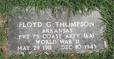 THOMPSON  (VETERAN WWII), FLOYD  G - Boone County, Arkansas | FLOYD  G THOMPSON  (VETERAN WWII) - Arkansas Gravestone Photos