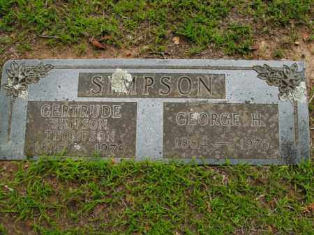 SIMPSON THOMPSON, GERTRUDE - Boone County, Arkansas | GERTRUDE SIMPSON THOMPSON - Arkansas Gravestone Photos