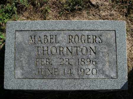 ROGERS THORNTON, MABEL - Boone County, Arkansas | MABEL ROGERS THORNTON - Arkansas Gravestone Photos