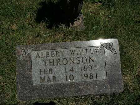THRONSON, ALBERT (WHITEY) - Boone County, Arkansas | ALBERT (WHITEY) THRONSON - Arkansas Gravestone Photos