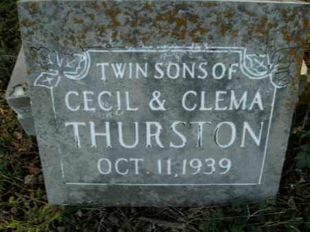 THURSTON, TWIN SONS - Boone County, Arkansas   TWIN SONS THURSTON - Arkansas Gravestone Photos