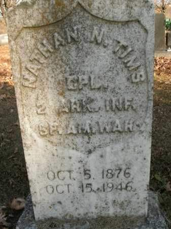 TIMS  (VETERAN SAW), NATHAN NEWTON - Boone County, Arkansas | NATHAN NEWTON TIMS  (VETERAN SAW) - Arkansas Gravestone Photos