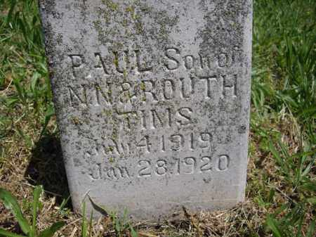 TIMS, PAUL - Boone County, Arkansas | PAUL TIMS - Arkansas Gravestone Photos
