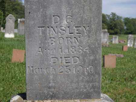 TINSLEY  (VETERAN CSA), D.C. - Boone County, Arkansas | D.C. TINSLEY  (VETERAN CSA) - Arkansas Gravestone Photos