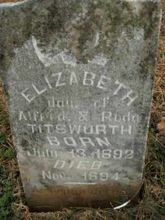 TITSWORTH, ELIZABETH - Boone County, Arkansas | ELIZABETH TITSWORTH - Arkansas Gravestone Photos