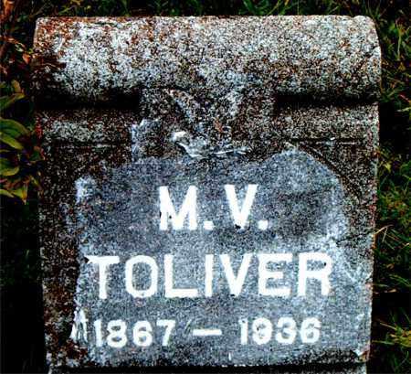 TOLIVER, M.V. - Boone County, Arkansas | M.V. TOLIVER - Arkansas Gravestone Photos