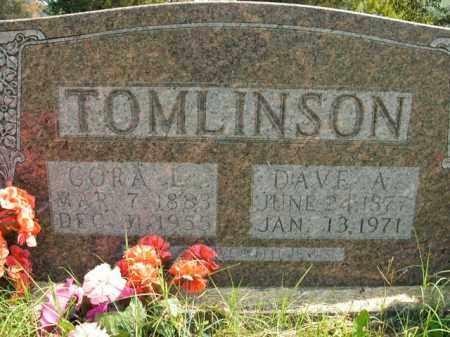 TOMLINSON, DAVE A. - Boone County, Arkansas | DAVE A. TOMLINSON - Arkansas Gravestone Photos