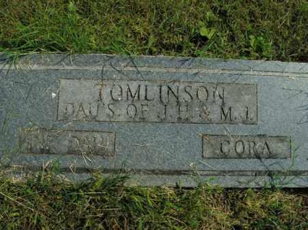 TOMLINSON, CORA - Boone County, Arkansas | CORA TOMLINSON - Arkansas Gravestone Photos