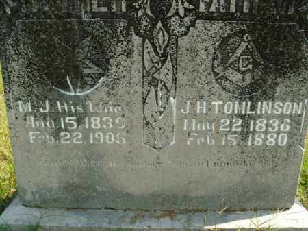 TOMLINSON, M.J. - Boone County, Arkansas | M.J. TOMLINSON - Arkansas Gravestone Photos