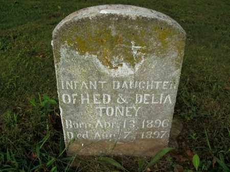 TONEY, INFANT DAUGHTER - Boone County, Arkansas | INFANT DAUGHTER TONEY - Arkansas Gravestone Photos