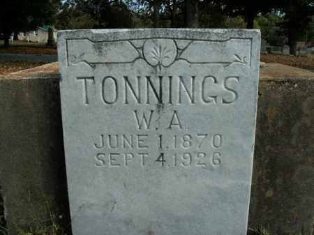 TONNINGS, W.A. - Boone County, Arkansas | W.A. TONNINGS - Arkansas Gravestone Photos