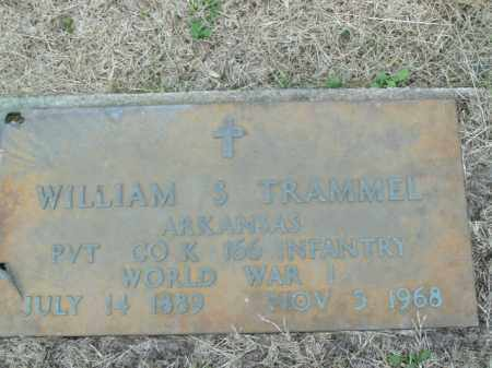 TRAMMEL  (VETERAN WWI), WILLIAM S - Boone County, Arkansas | WILLIAM S TRAMMEL  (VETERAN WWI) - Arkansas Gravestone Photos
