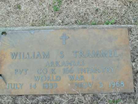 TRAMMEL  (VETERAN WWI), WILLIAM S - Boone County, Arkansas | WILLIAM S TRAMMEL  (VETERAN WWI) - Arkansas Gravestone Photos