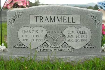 TRAMMELL, FRANCIS E. - Boone County, Arkansas | FRANCIS E. TRAMMELL - Arkansas Gravestone Photos