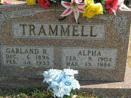 TRAMMELL, GARLAND R. - Boone County, Arkansas | GARLAND R. TRAMMELL - Arkansas Gravestone Photos