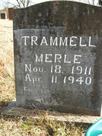 TRAMMELL, MERLE - Boone County, Arkansas | MERLE TRAMMELL - Arkansas Gravestone Photos
