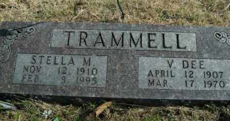 TRAMMELL, VINDEL DEE - Boone County, Arkansas | VINDEL DEE TRAMMELL - Arkansas Gravestone Photos