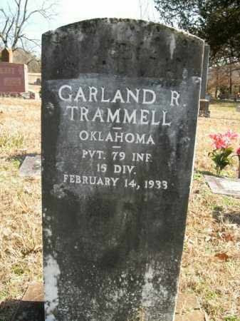 TRAMMELL (VETERAN), GARLAND R - Boone County, Arkansas | GARLAND R TRAMMELL (VETERAN) - Arkansas Gravestone Photos
