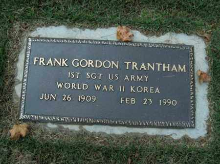 TRANTHAM  (VETERAN 2 WARS), FRANK GORDON - Boone County, Arkansas | FRANK GORDON TRANTHAM  (VETERAN 2 WARS) - Arkansas Gravestone Photos