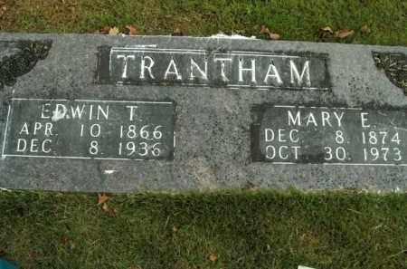 TRANTHAM, EDWIN T. - Boone County, Arkansas | EDWIN T. TRANTHAM - Arkansas Gravestone Photos