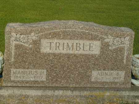 TRIMBLE, MANLIUS H. - Boone County, Arkansas | MANLIUS H. TRIMBLE - Arkansas Gravestone Photos