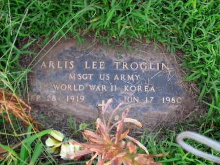 TROGLIN  (VETERAN 2 WARS), ARLIS LEE - Boone County, Arkansas | ARLIS LEE TROGLIN  (VETERAN 2 WARS) - Arkansas Gravestone Photos